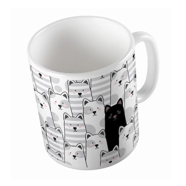 Keramický hrnček Black Cat, 330 ml