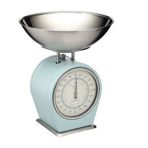 Modrá kuchynská váha Kitchen Craft Living Nostalgia, 4kg