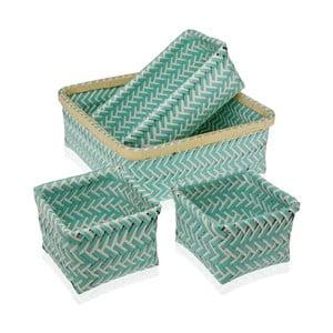 Sada 4 zelených košíkov Versa