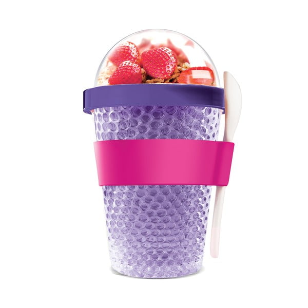 Termo téglik na jogurt Chill Yo 2 Go, fialový