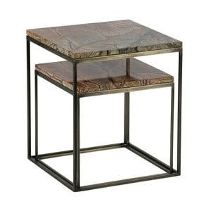 Sada 2 odkladacích stolíkov s mramorovými doskami BePureHome Mellow
