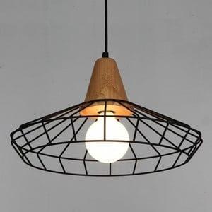 Stropné svietidlo z jaseňového dreva Massive Home Denli