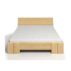 Dvojlôžková posteľ z borovicového dreva s úložným priestorom Skandica Vestre Maxi, 200×200cm