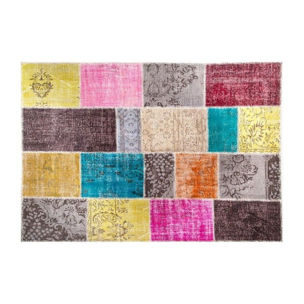 Vlnený koberec Allmode Multi Kare, 200x140 cm