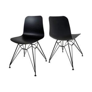Čierna jedálenská stolička Canett Paris