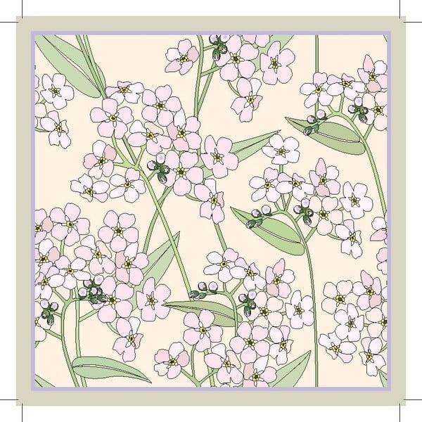 Sada 2 prestieraní Spring Flower, 20x20 cm