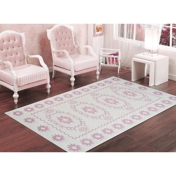 Odolný koberec Dahlia, 160x230 cm, pudrový