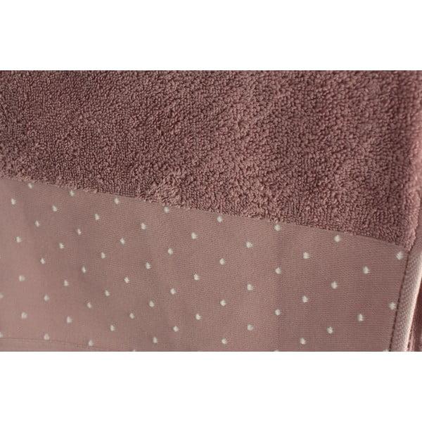 Sada 2 ružovosivých osušiek Patricik Dusty, 90×150cm