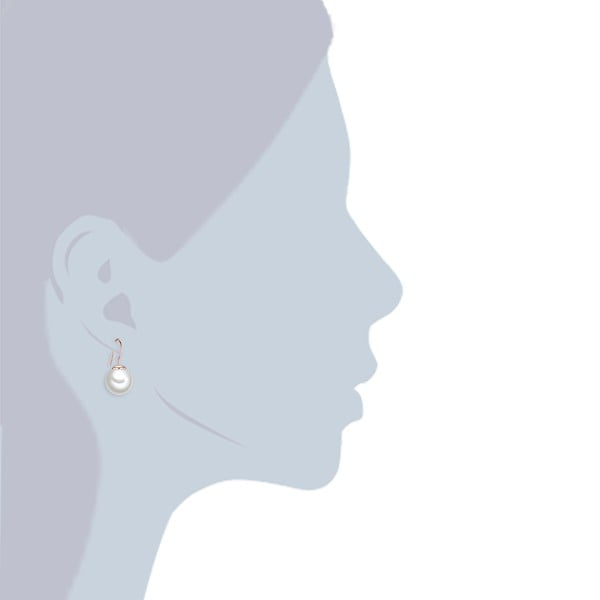 Náušnice s bielou perlou Perldesse Kernel, ⌀ 12 mm