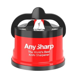 Červený brúska s prísavkou Gift Company AnySharp