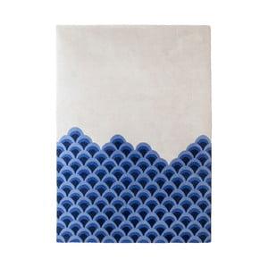 Modro-biely koberec z čistej vlny HARTÔ Marin, 150×229 cm