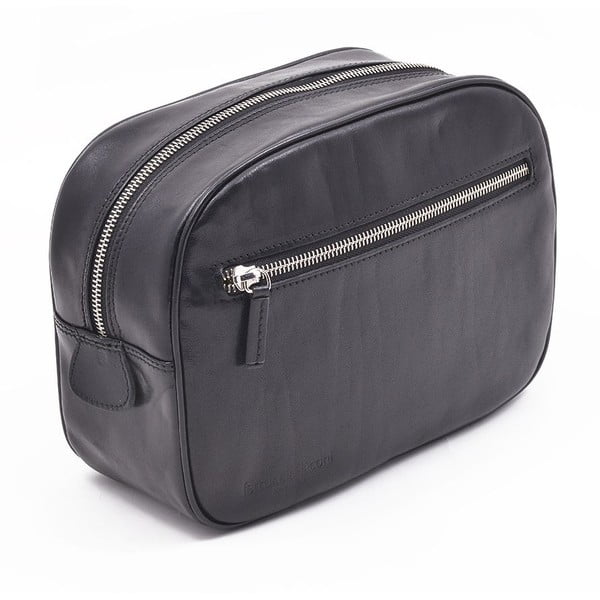 Kožená kozmetická taška Ferruccio Laconi Black
