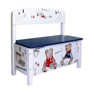 Detská lavica s úložným priestorom Roba Kids Teddy