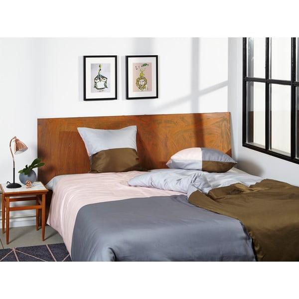 Obliečky Domino Grey/Nude, 135x200 cm