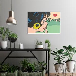 Obraz na plátne OrangeWallz Pop Art Cry, 60 x 90 cm