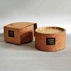 Palmová sviečka Legno Palm s vôňou medu, 120 hodín horenia