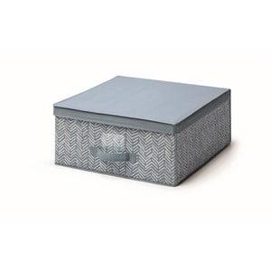 Modrý úložný box s vekom Cosatto Tweed, šírka 45 cm