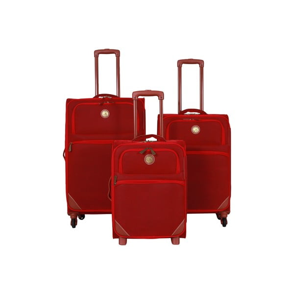 Sada 3 kufrov Jean Louis Scherrer Set Red