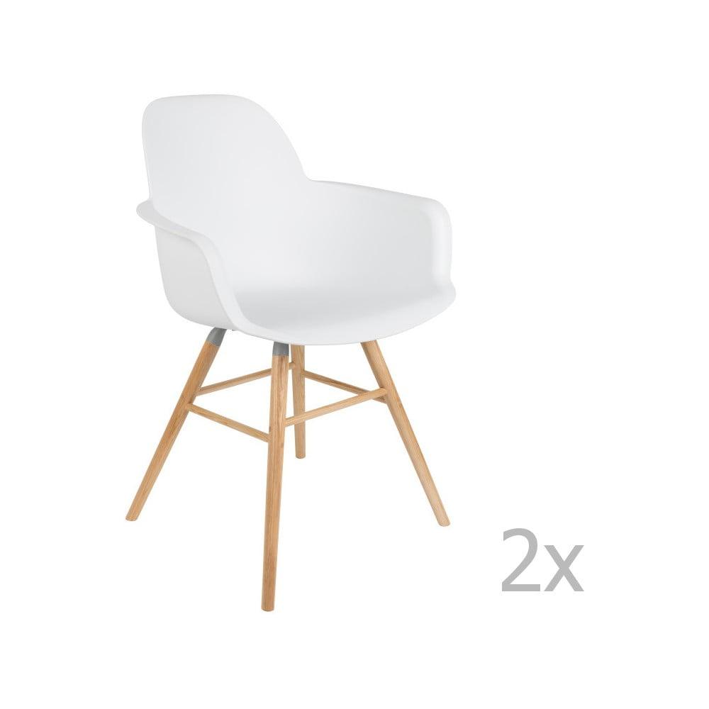 Sada 2 bielych stoličiek s opierkami Zuiver Albert Kuip
