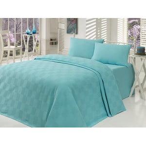 Ľahká prikrývka na posteľ Kare Mint,200x235cm