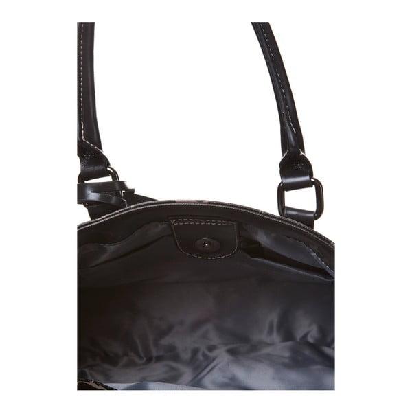 Kožená kabelka do ruky Canguru Tag, čierna