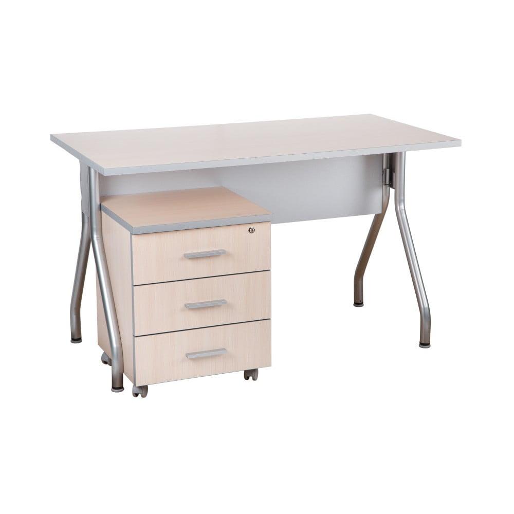 Pracovný stôl v dekore duba Milky Manager