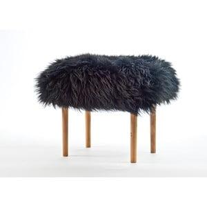 Stolička z ovčej kože Carys Coal Black