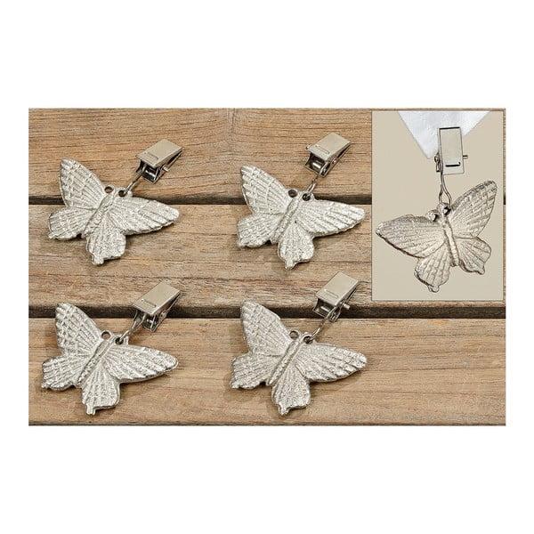 Klipsne na zaťaženie obrusu Butterflies, 4 ks