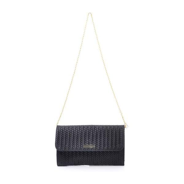 Kožená kabelka Yaelle, čierna