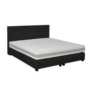 Čierna boxspring posteľ Revor Deco, 160x200cm