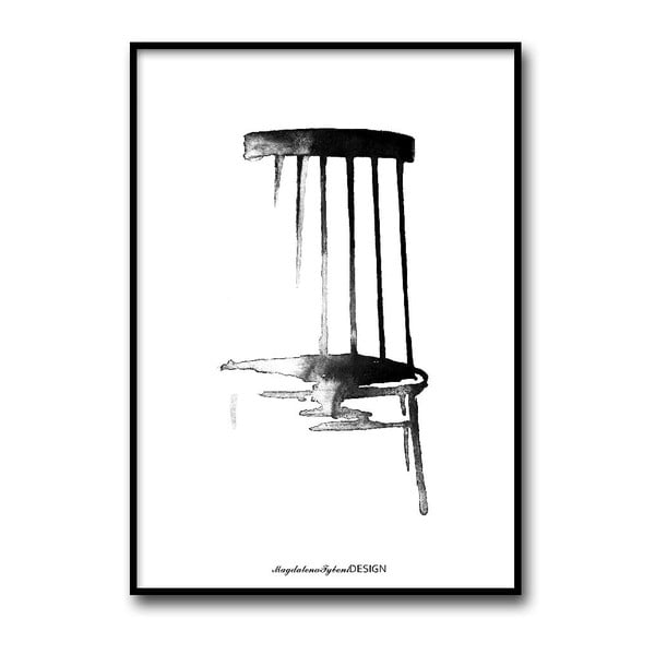 Autorský plagát Pinnstol, 50x70 cm