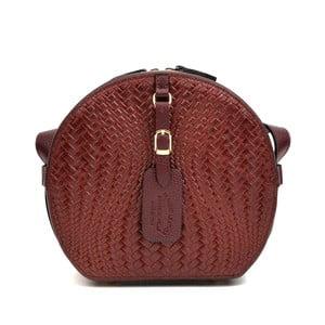 Tmavočervená kožená kabelka Roberta M Minilasito