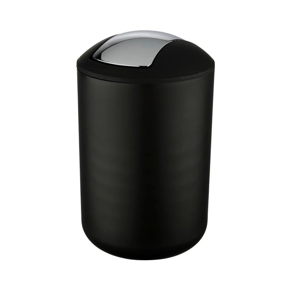Čierny odpadkový kôš Wenko Brasil L, výška 31 cm