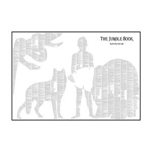 Knižný plagát Kniha džungle, 100x70 cm