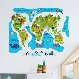 Nástenná samolepka Ambiance Colored Baby World Map