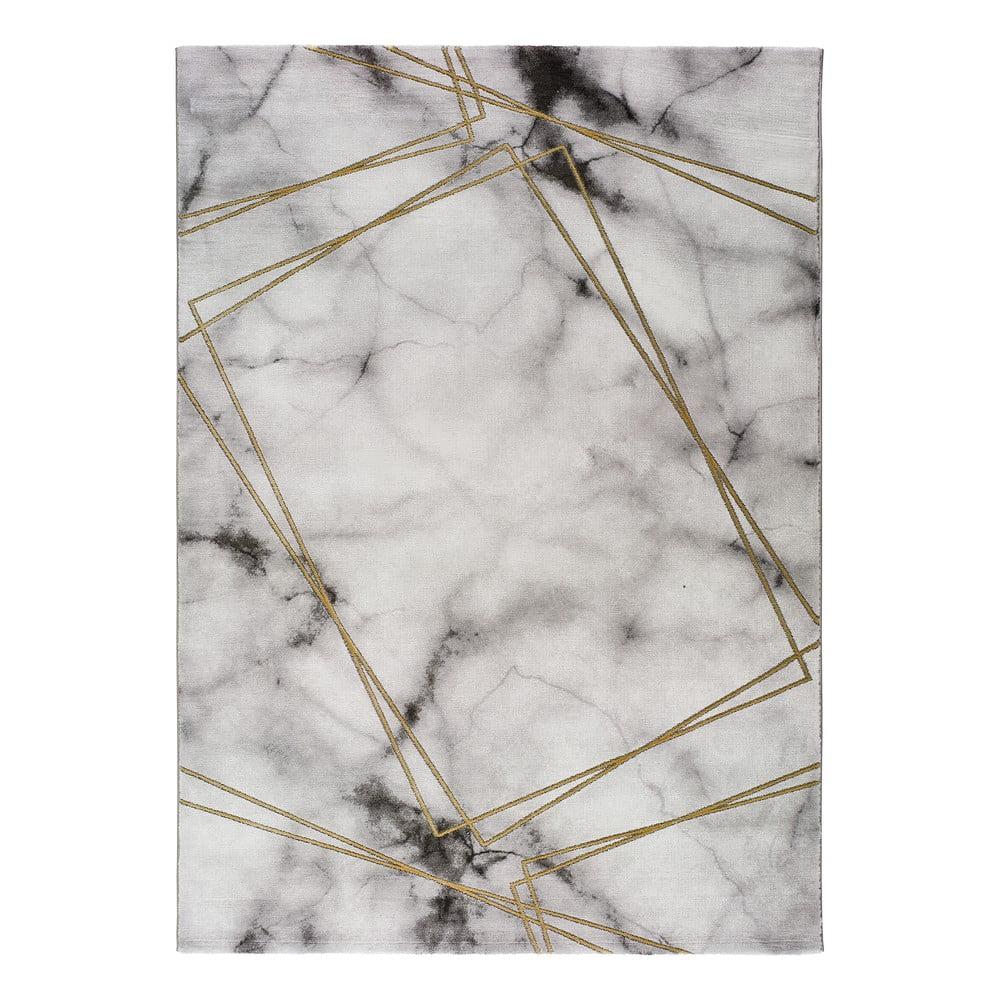 Sivo-biely koberec Universal Artist Marble, 60 x 120 cm