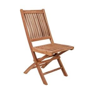 Sada 2 skladacích záhradných stoličiek z teakového dreva Crido Consulting Teak