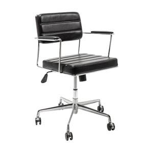 Čierna kancelárska stolička Kare Design Dottore