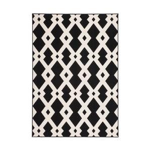 Čierno-biely koberec Kayoom Stella Schwarz Weich, 160 x 230 cm