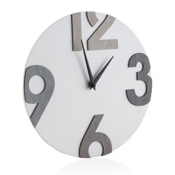Biele nástenné hodiny Geese Timey