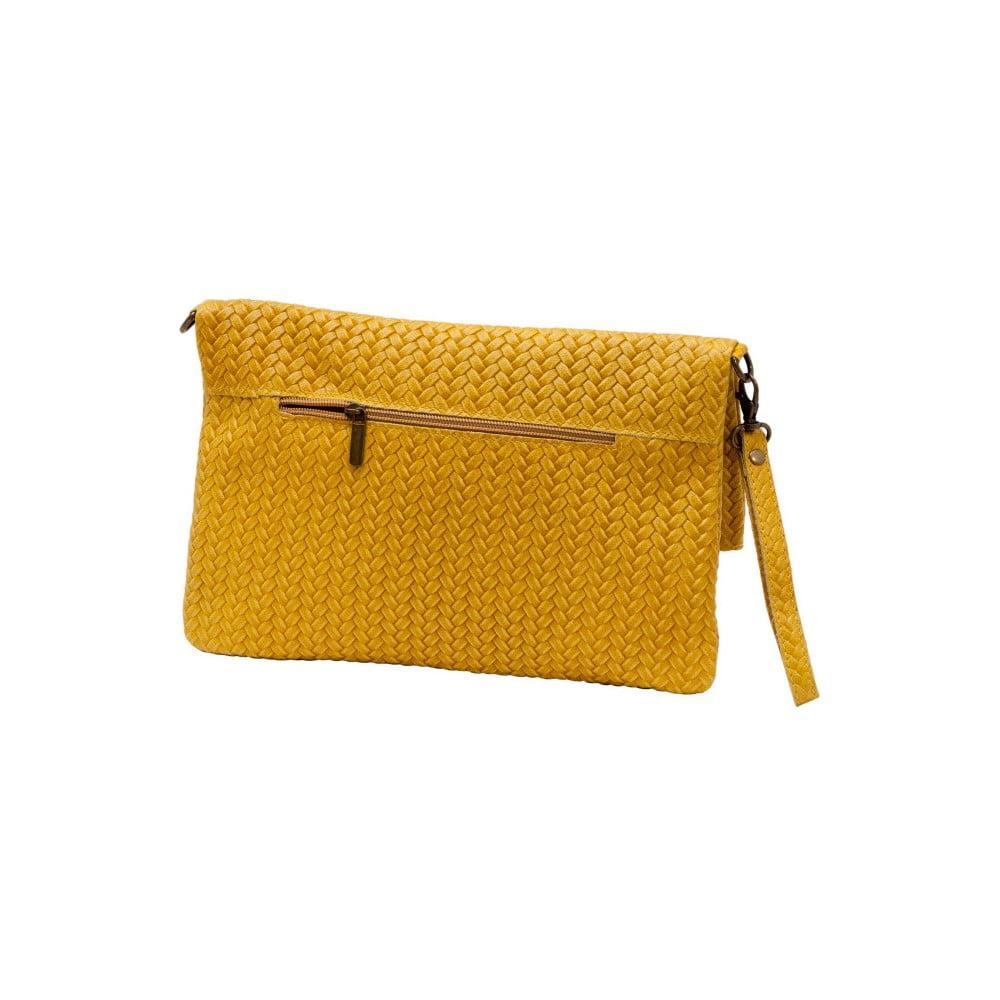 f7a6c50271e ... Žltá listová kabelka z pravej kože Andrea Cardone Ricca ...