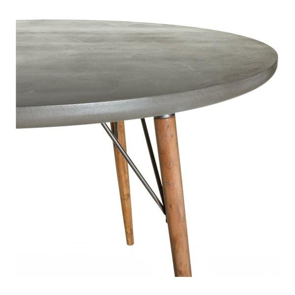 Jedálenský stôl Grey Board, 120x120x75 cm