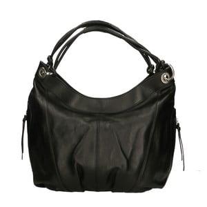 Čierna kožená kabelka Roberto Buono Saranka