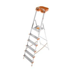 Skladací rebrík Attica 6 Silver