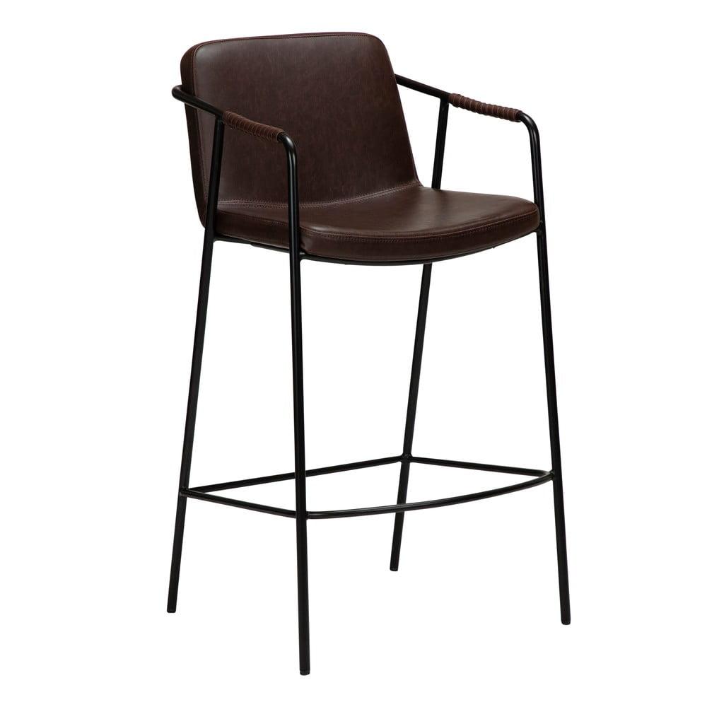 Tmavohnedá barová stolička z imitácii kože DAN-FORM Denmark Boto, výška 105 cm