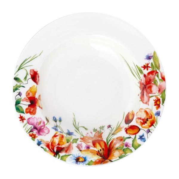 Farebný polievkový tanier Krauff Colibri, 21,5cm