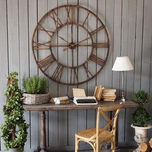 Nástenné hodiny Industrial Orchidea Milano Rusty Brown, ⌀ 114 cm