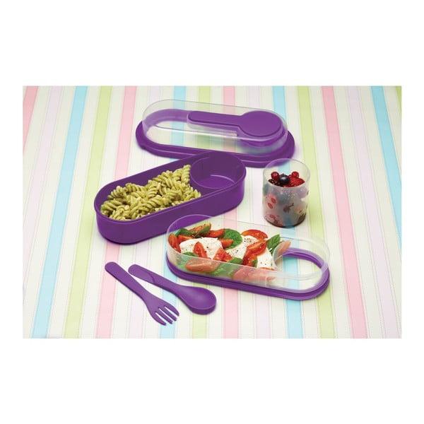 Fialový desiatový box Kitchen Craft Coolmovers Rectangular