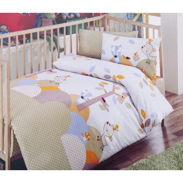 Set detských obliečok a plachty Tommy Beige, 120x150 cm