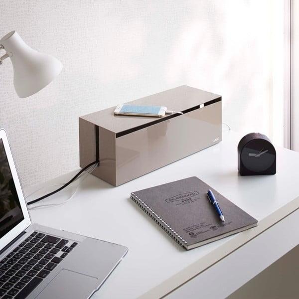 Hnedý box na nabíjačky Yamazaki Web Cable Box